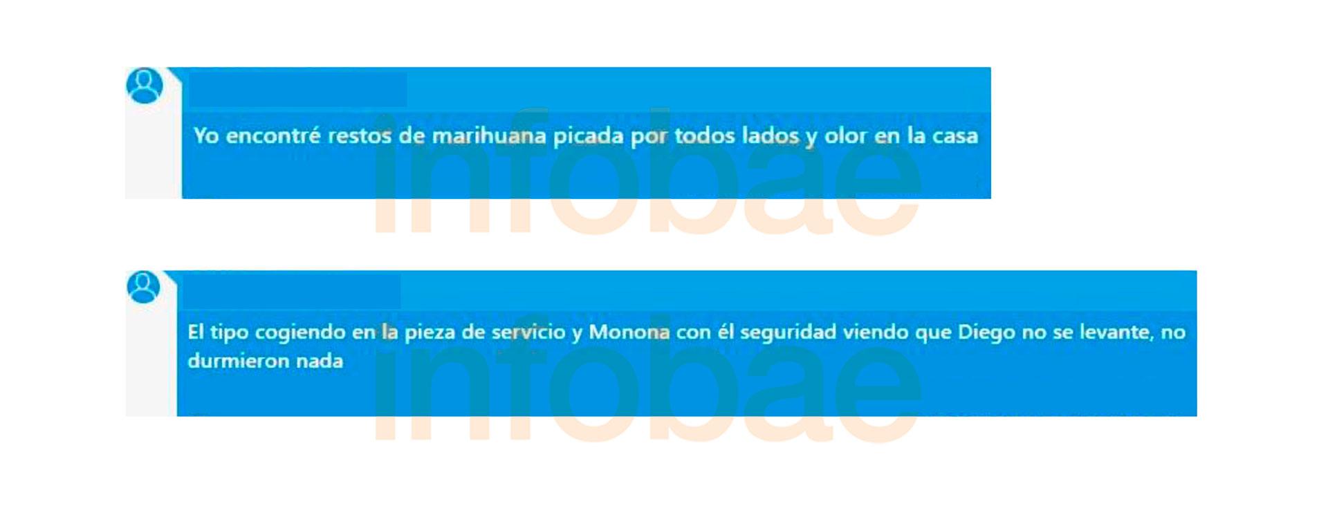 """Los nuevos audios que complican al entorno de Maradona: """"Le daban cerveza y marihuana para sacárselo de encima"""""""