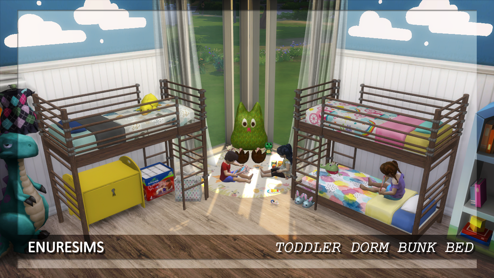 sims 4 bunk beds ts3 to ts4 dorm bunk bed for toddlers two ...
