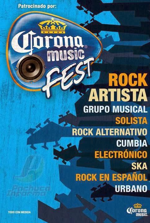 Artistas Corona Music 2014 en Pachuca