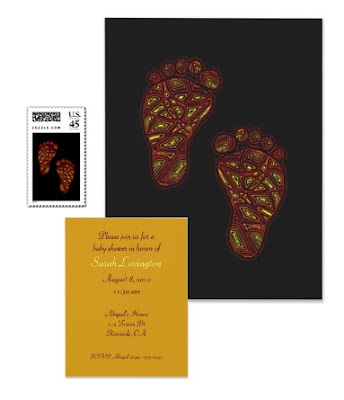 Tribal Toes Baby Shower Invitation