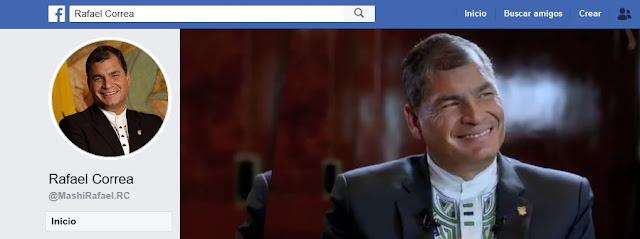 Rafael Correa en Facebook