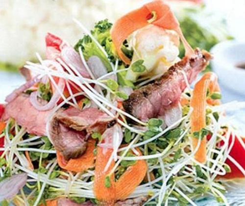 Món ăn ngon từ rau mầm TPHCM