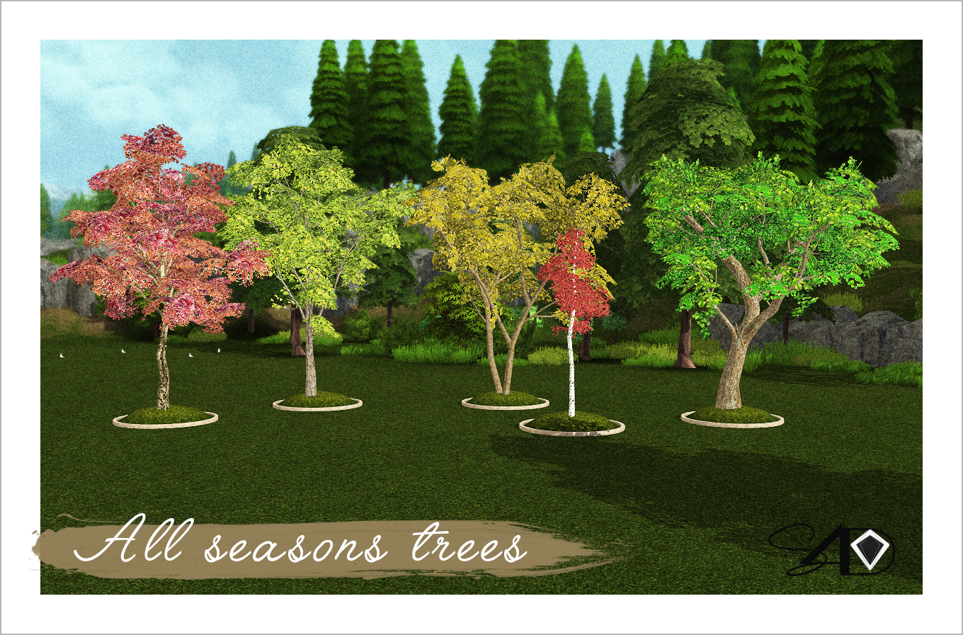 All Seasons My Sims 4 Blog All Seasons Trees By Daer0n