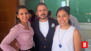 Karen Garmendia, George More y Andrea Olvera.