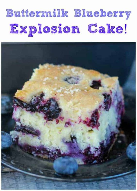 Amazing Buttermilk Blueberry Explosion Cake