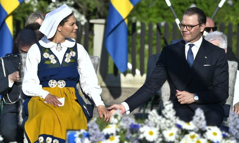 Crown Princess Victoria and Prince Daniel attended the traditional National Day celebrations at Skansen