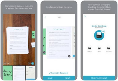 Aplikasi Scanner iPhone Gratis - Evernote Scannable