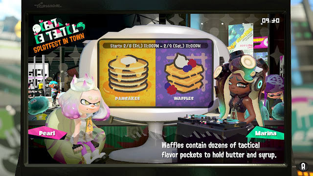Splatoon 2 Splatfest Marina waffles contain dozens of tactical flavor pockets to hold butter and syrup