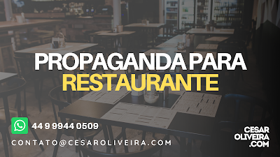 Gravação de propaganda para restaurante, propaganda de restaurante texto