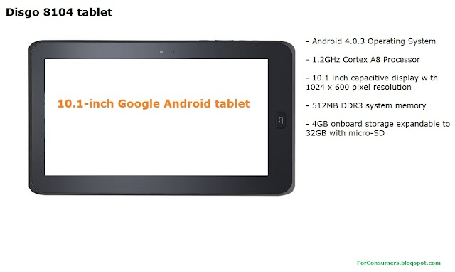 Disgo 8104 Android tablet review