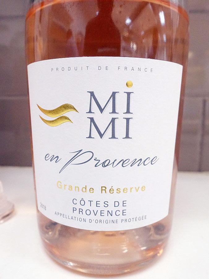 Mimi en Provence Grande Réserve Rosé 2018 (89 pts)