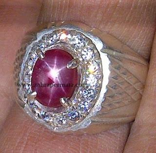 Cincin Batu Permata Ruby Star - ZP 190