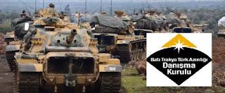 """Ανακοίνωση στήριξης του """"Κλάδου Ελαίας"""" από την τουρκοσυμβουλευτική επιτροπή της Θράκης"""