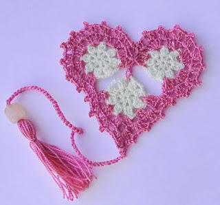 мастер-класс сердечко закладка крючком
