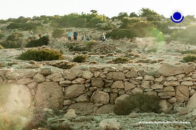 Γαύδος, Η ομάδα Νίκου Λυγερού προς τον βράχο Ακρωτηρίου Τρυπητή