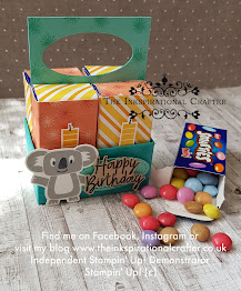 I used Stampin' Up! stamps and dies to create the 3D mini smarties caddy