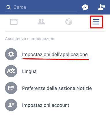 Disattivare avvio automatico video facebook app