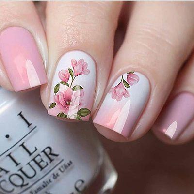 unhas com flores 8