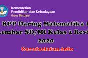 RPP Daring Matematika 1 Lembar SD/MI Kelas 2 Revisi 2020