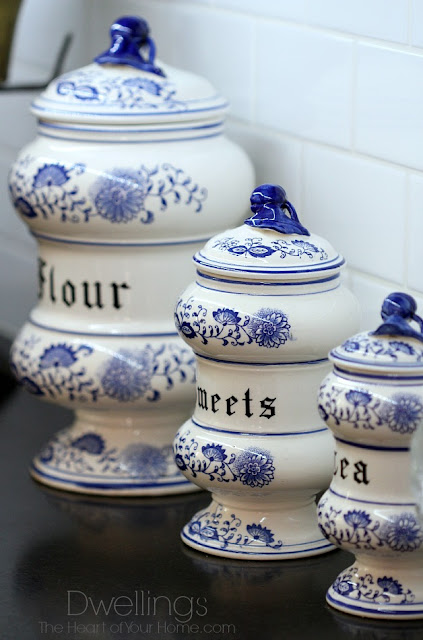 Blue Onion Canisters