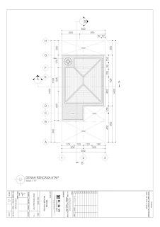 denah atap gambar desain 2d rumah 2 lantai ukuran 6x14 (5)