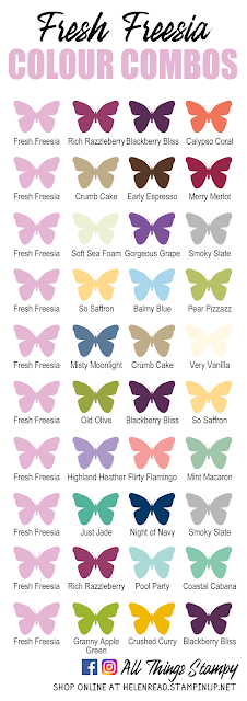 Stampin Up In Colors 2021 colour combinations Fresh Freesia