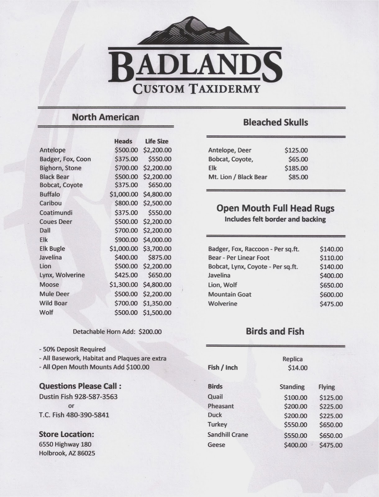 Badlands Custom Taxidermy Desert Country Archery