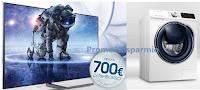Logo Samsung: ricevi il rimborso fino a 300€ per Lavatrice e fino a 700€ per TV Samsung e..non solo!