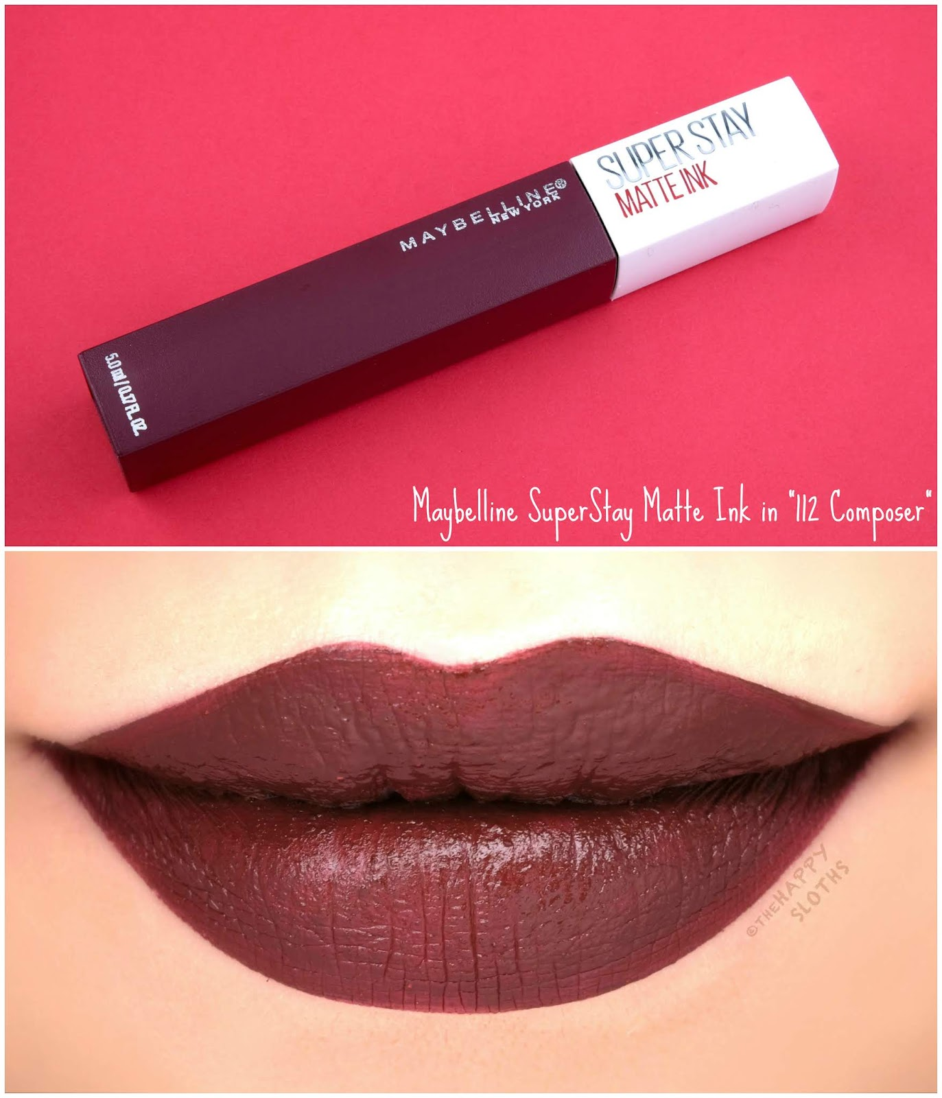 "Maybelline | SuperStay Matte Ink City Edition in ""112 Composer"": Review and Swatches"