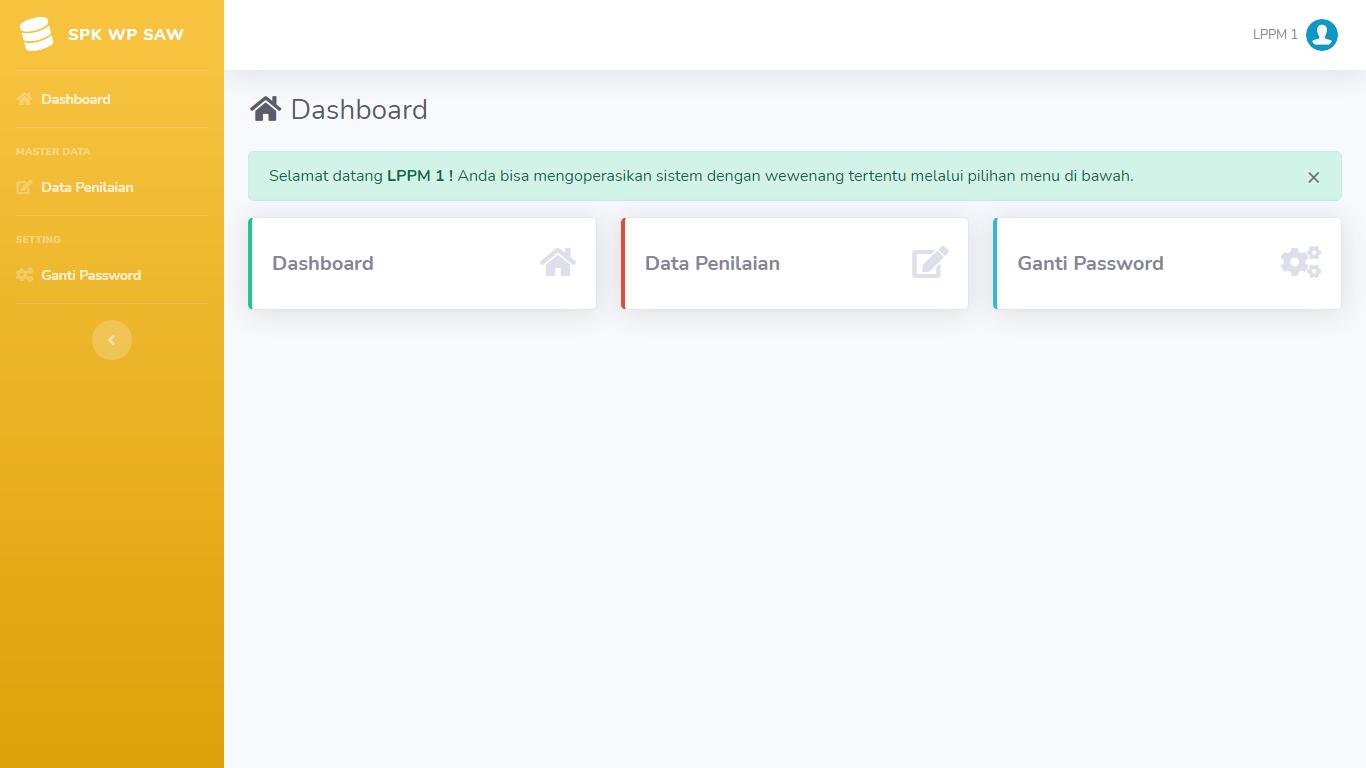 Aplikasi Sistem Pendukung Keputusan Penilaian Kinerja Dosen Menggunakan Metode WP Dan SAW - SourceCodeKu.com