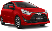 Toyota New Agya Medan merah