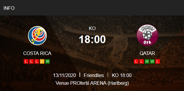بث مباشر مباراة قطر وكوستاريكا