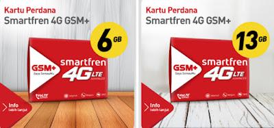 Promo Kartu Perdana Terbaru Smartfren 4G GSM Plus 6GB Dan 13GB