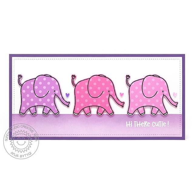 Sunny Studio Stamps: Savanna Safari Baby Themed Card by Anja Bytyqi