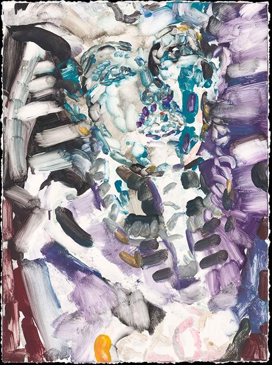 Elizabeth Peyton Eternal Return #2 (Tutankhamun), 2020 Monotype on Twinrocker handmade paper  76.8 × 56.5 cm