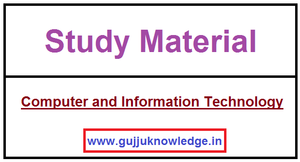 Computer and Information Technology Pdf File by Anamika Academy.