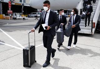 Llegada del Real Madrid a Londres