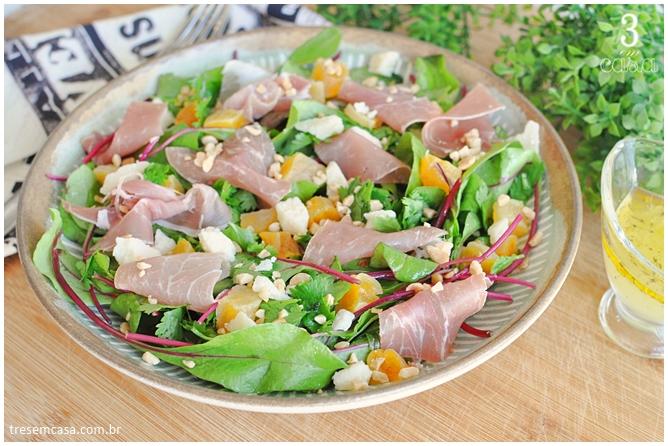 como fazer salada de folha de beterraba