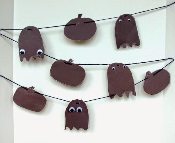 Halloween Shadow Garland Craft for preschoolers for click clack boo