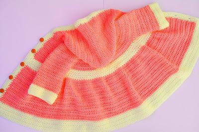 3 - Crochet Imagen Abrigo para canesú a crochet y ganchillo por Majovel Crochet