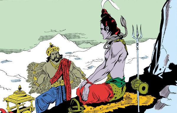 Shiva and Vanasura