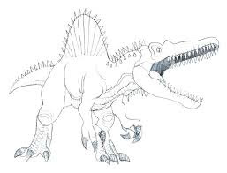 Adorable Spinosaurus Coloring Sheet Images