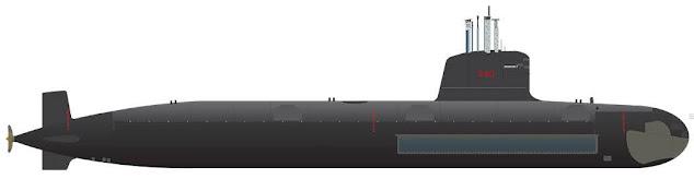 Perfil del submarino Riachuelo S40. Diseño: José da Silva