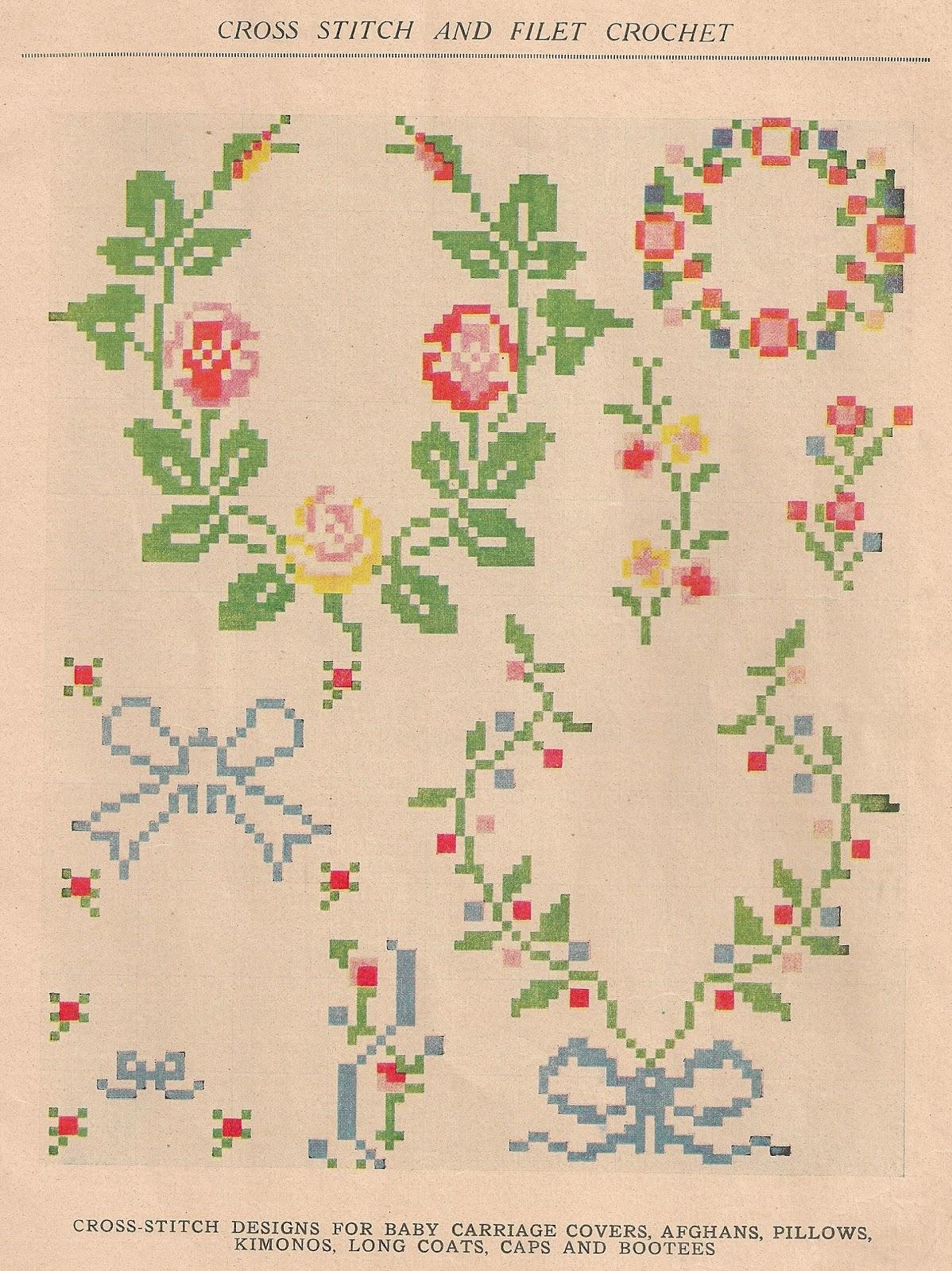 Sentimental Baby Free Cross Stitch Or Filet Crochet