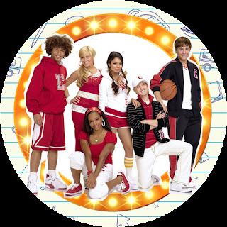 Toppers o Etiquetas de High School Musical para imprimir gratis.