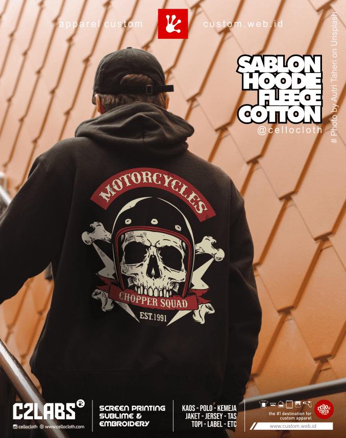 Motorcycles Hoodie Custom Sablon Plastisol - Konveksi Jaket Jogja