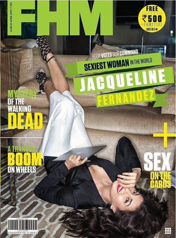 Jacqueline Fernandez On The Cover Of FHM India Magazine March-April 2017