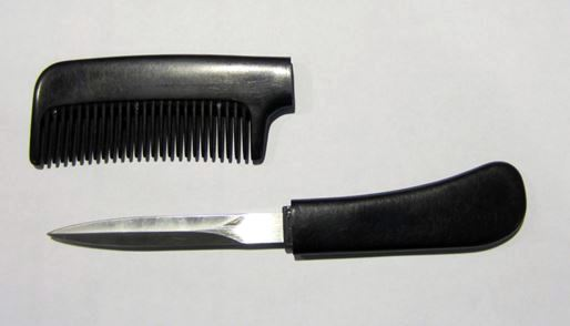 Discovered comb knife