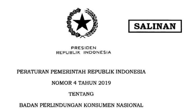 PP Nomor 4 tahun 2019
