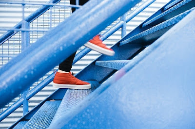 Climb the stairs